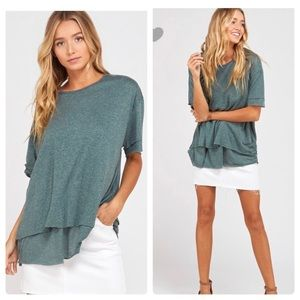 Tops - 🆕Re-posh teal linen top, EUC.